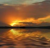 Coucher du soleil manipulé photographie stock libre de droits