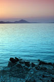 Coucher du soleil - mer Images stock