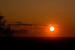 Coucher du soleil merveilleux 2 Images libres de droits
