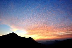 Coucher du soleil merveilleux Photos libres de droits