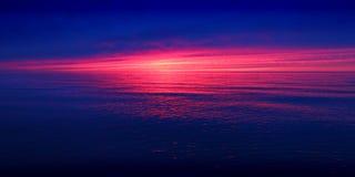 Coucher du soleil Michigan de Great Lakes Photos stock