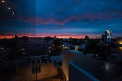 Coucher du soleil moderne de Guadalajara images stock