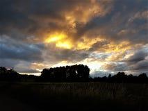 Coucher du soleil mystique Photo stock