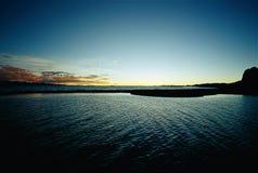 Coucher du soleil Nam-Co merveilleux Images libres de droits