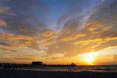 Coucher du soleil Naples Photo libre de droits