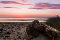 Coucher du soleil du nord du Pays de Galles Photos stock