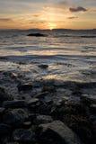 Coucher du soleil norvégien Image stock