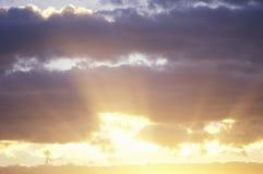 Coucher du soleil, Nouveau Mexique photographie stock libre de droits