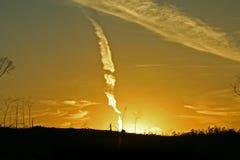 Coucher du soleil nucléaire Images libres de droits