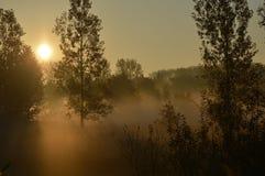 Coucher du soleil octobre Photographie stock libre de droits