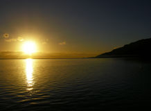 Coucher du soleil ombragé Image libre de droits