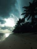 Coucher du soleil orageux Photos libres de droits