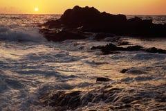 Coucher du soleil orange Photo libre de droits