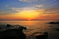 coucher du soleil ou lever de soleil Photo libre de droits