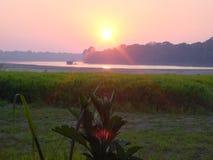 Coucher du soleil péruvien Photographie stock libre de droits