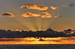 Coucher du soleil Pacifique 2 Image libre de droits