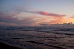 Coucher du soleil Pacifique de ville Image libre de droits