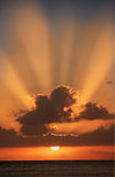 Coucher du soleil Pacifique (Hawaï) Photographie stock libre de droits