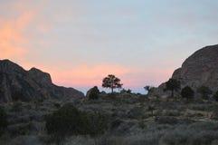 Coucher du soleil, parc national de grande courbure Images libres de droits