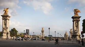 Coucher du soleil parisien Photo stock