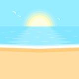 Coucher du soleil Paysage de mer Photographie stock