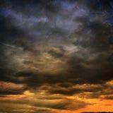 coucher du soleil peint photos stock