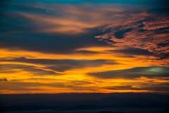 Coucher du soleil pendant le matin Image libre de droits