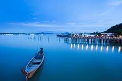 Coucher du soleil, Phuket, Thaïlande Photographie stock