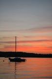 Coucher du soleil, plage de Niles Photographie stock libre de droits