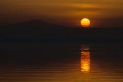 Coucher du soleil pointu images libres de droits