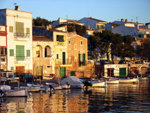 Coucher du soleil à Porto Colom Photo libre de droits