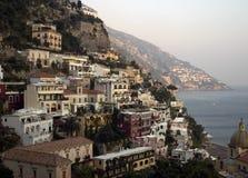Coucher du soleil - Positano, Italie Photographie stock libre de droits