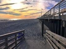 Coucher du soleil pour la plage Photos libres de droits