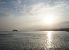 Coucher du soleil près de la Mer Rouge Photographie stock