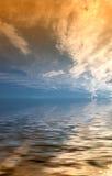 Coucher du soleil rêveur Photo libre de droits