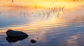Coucher du soleil reflété Images stock
