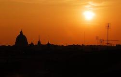 Coucher du soleil romain Image libre de droits