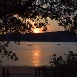 Coucher du soleil romantique Photographie stock