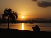 Coucher du soleil romantique Images stock