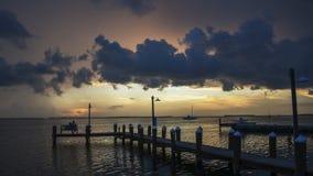 Coucher du soleil romantique Photos libres de droits