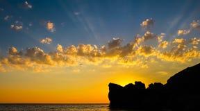 Coucher du soleil romantique Photo stock
