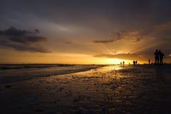 Coucher du soleil romantique de la Floride Image libre de droits