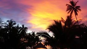 Coucher du soleil romantique en Thaïlande Images libres de droits