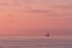 Coucher du soleil rose Photographie stock libre de droits