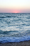 Coucher du soleil rose chaud Images libres de droits