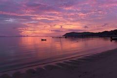 Coucher du soleil rose d'été Photos libres de droits