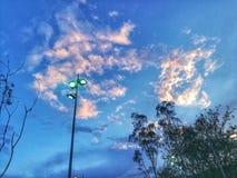 Coucher du soleil rougeâtre photographie stock libre de droits