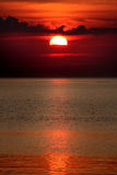 Coucher du soleil rouge Photos libres de droits