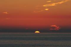 Coucher du soleil rouge image libre de droits