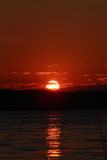 Coucher du soleil rouge Photo stock